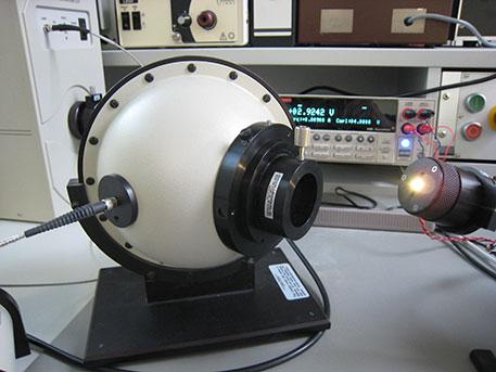 Lichttechnische Vermessung Ulbricht-Kugel